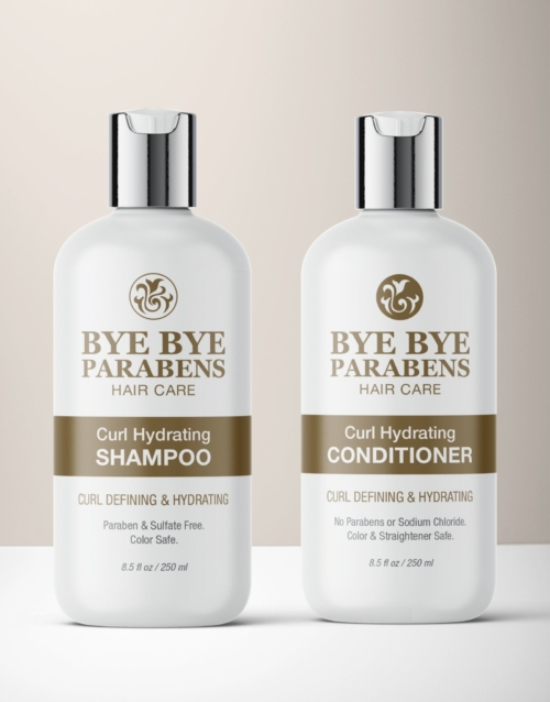 Curl Hydrating Shampoo Conditioner products for curly hair | Bye Bye Parabens