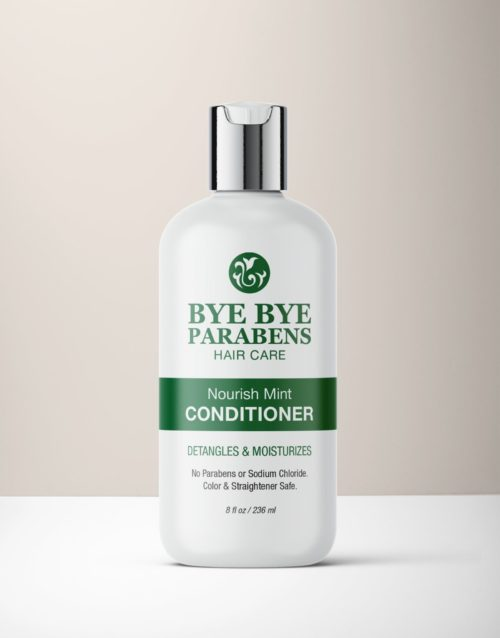 Nourish Mint Conditioner hair product for curly hair | Bye Bye Parabens