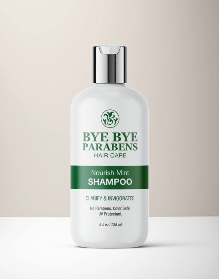 Nourish Mint Shampoo hair product for curly hair | Bye Bye Parabens