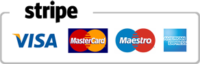 Stripe Payment Visa, Mastercard, Amex, Discovery